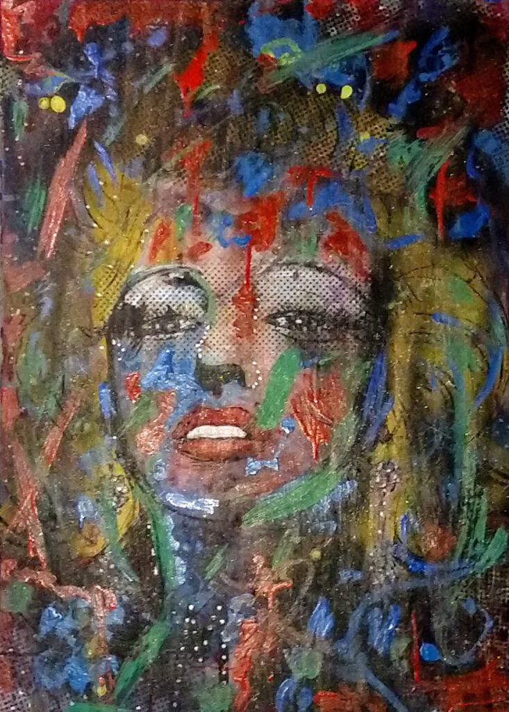 Marilyn Monroe, abstraktes Portrait der Ikone von MW Art Marion Waschk