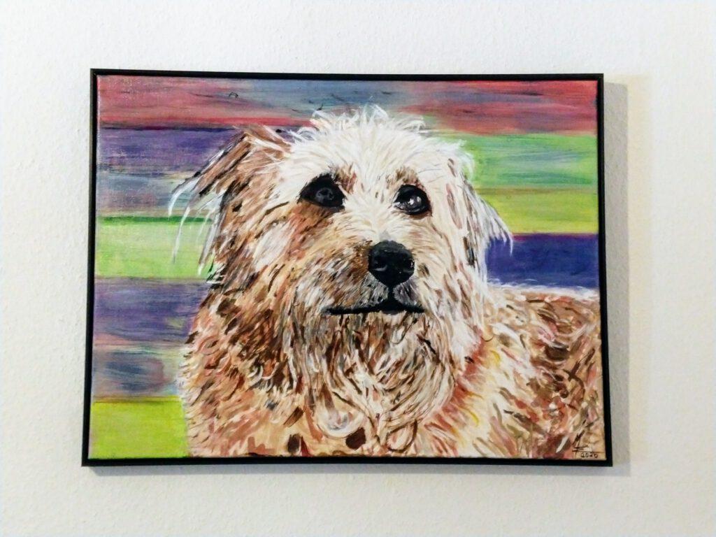 Auftragsarbeit Hunde Portrait von MW Art Marion Waschk