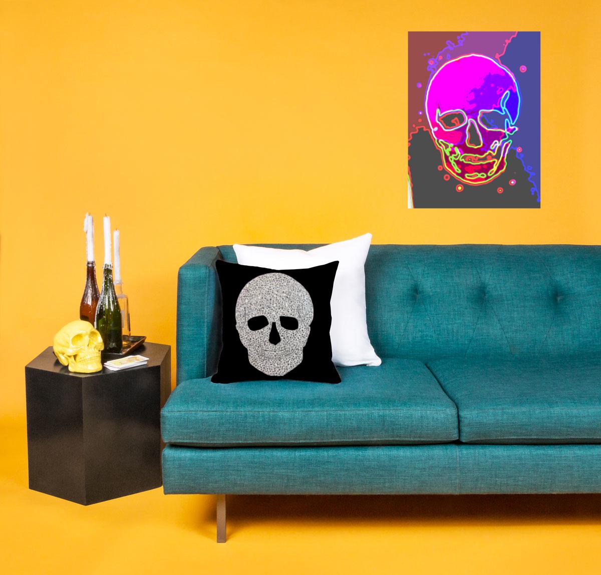 Produktfoto Diamond Skull und Neon Skull von MW Art Marion Waschk