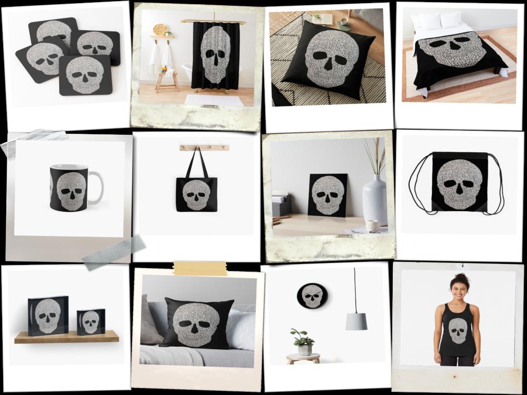Design Ideen von MW Art Marion Waschk, Diamond Skull hand gezeichnet