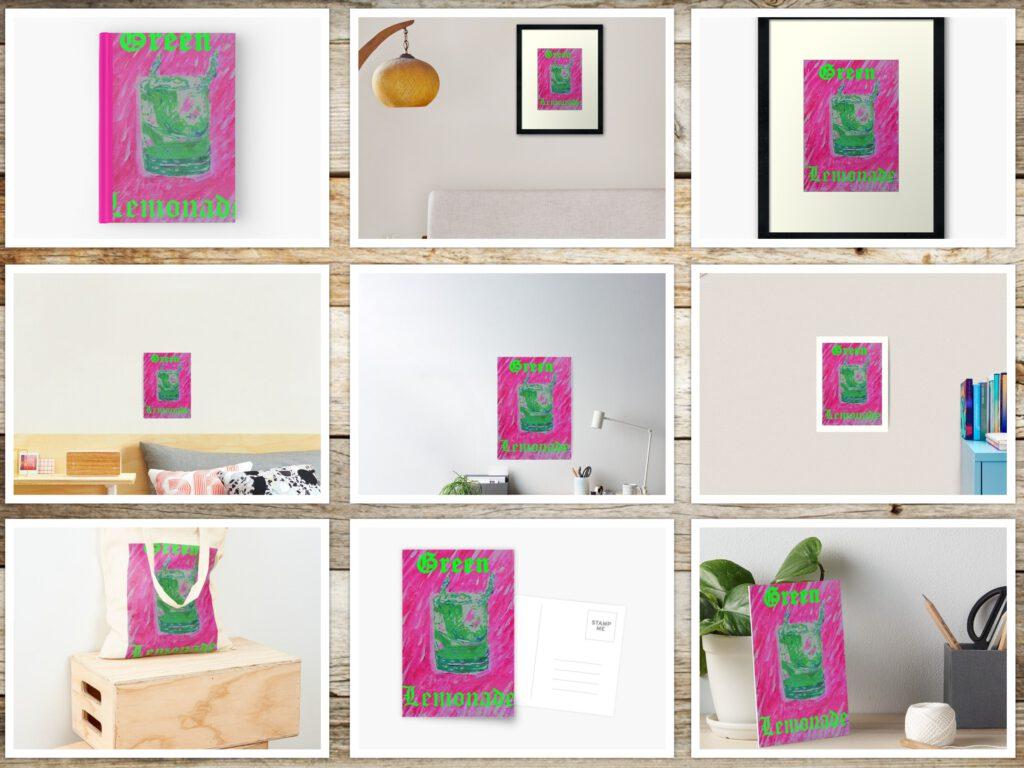 Abstraktes in Pink schwarz von MW art Marion Waschk