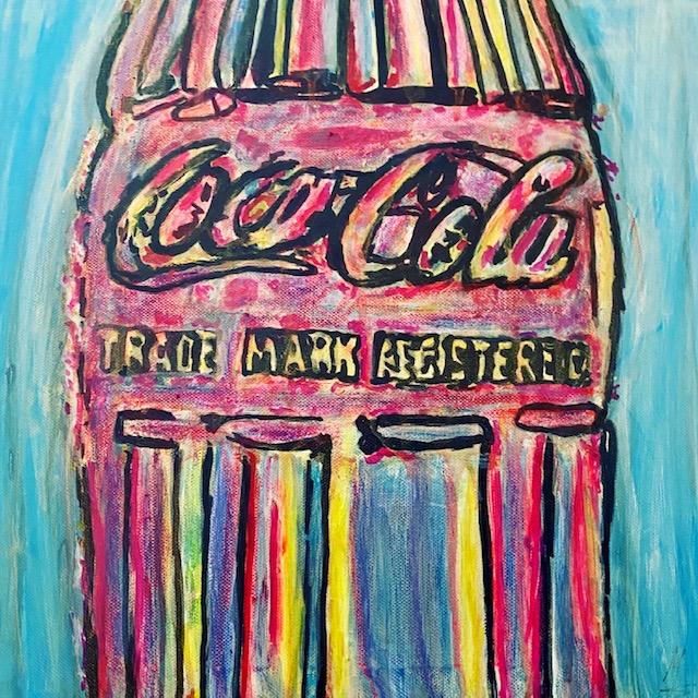 Coca Cola bunt auf Leinwand von MW Art Marion Waschk