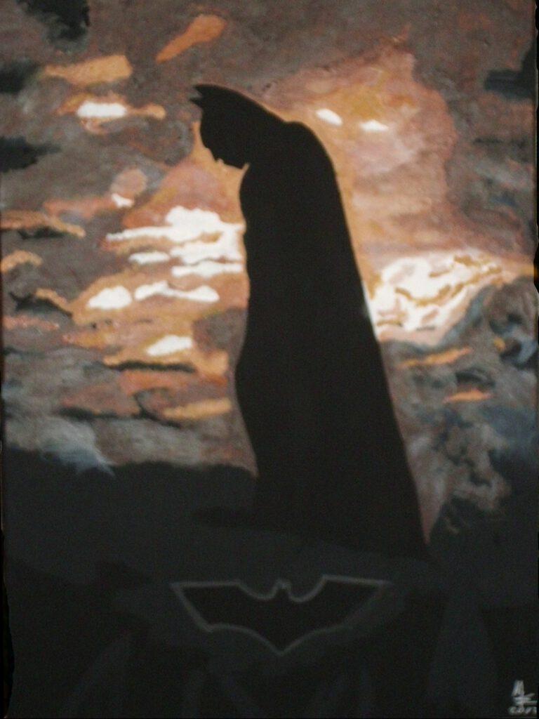Batman Portrait auf Leinwand von MW Art MArion Waschk