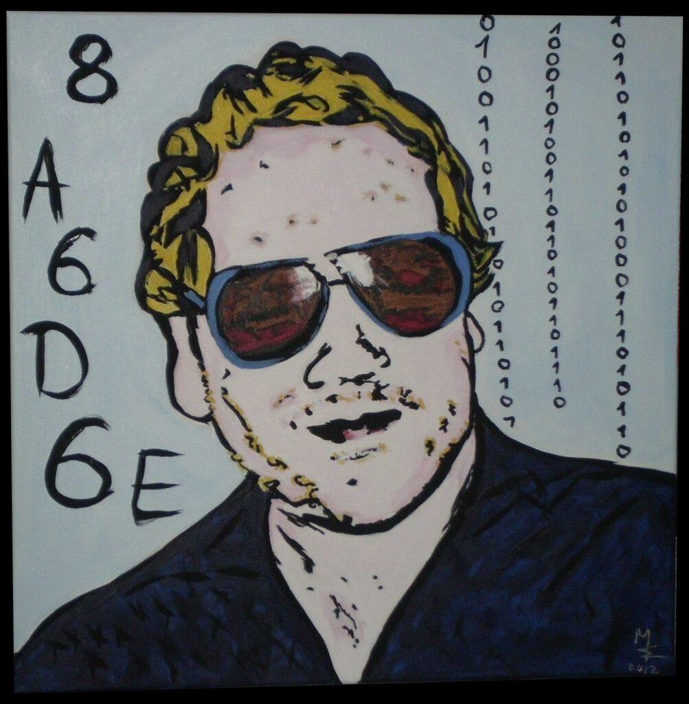 Auftragsarbeit Portrait von MW art Marion Waschk, Acryl auf Leinwand, Comic Art