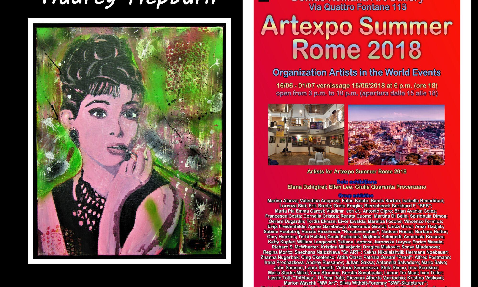 Audrey geht auf Reisen Gemälde von MW Art Marion Waschk