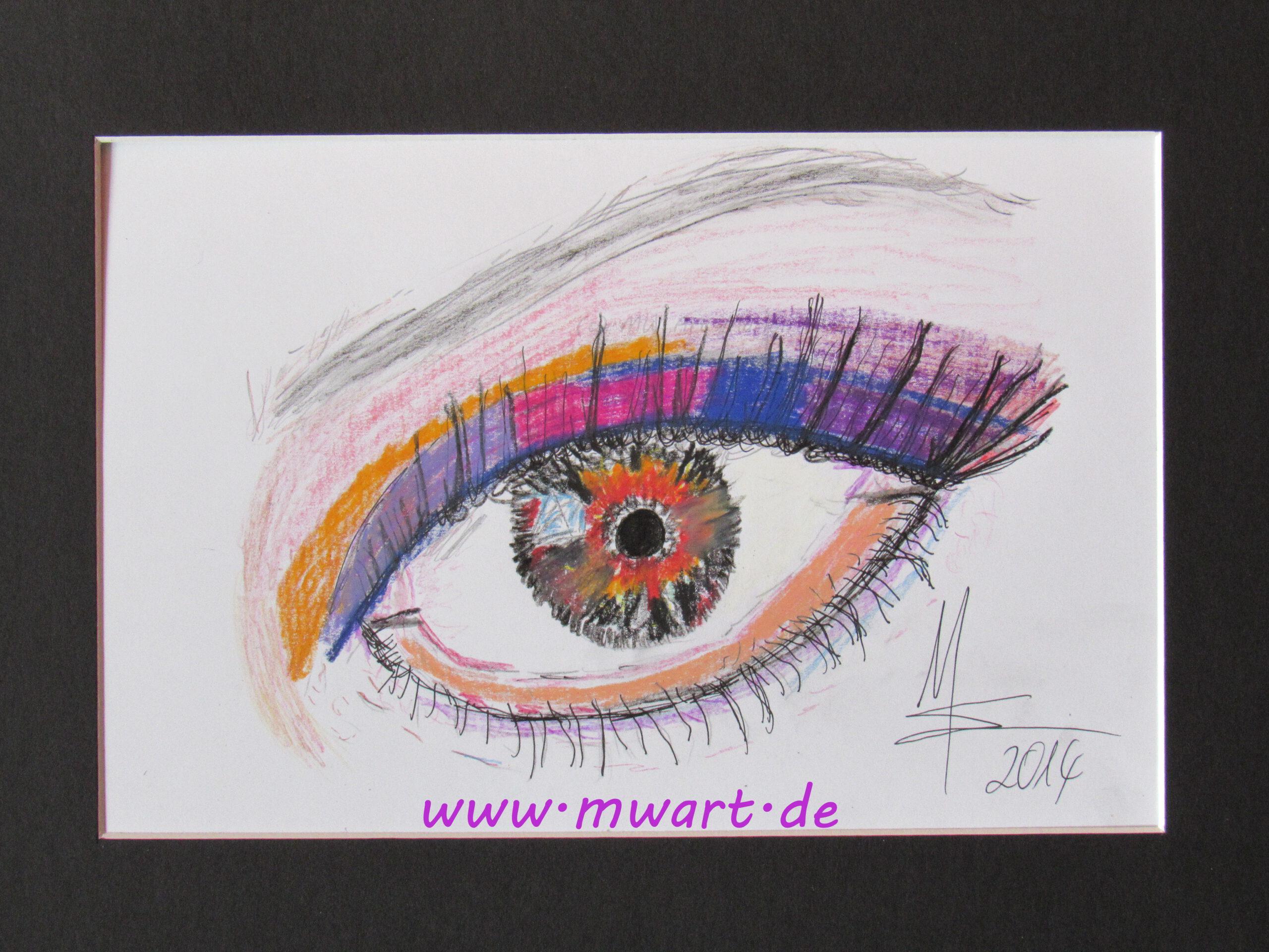 Zeichnung Diamant im Auge von MW Art Marion Waschk