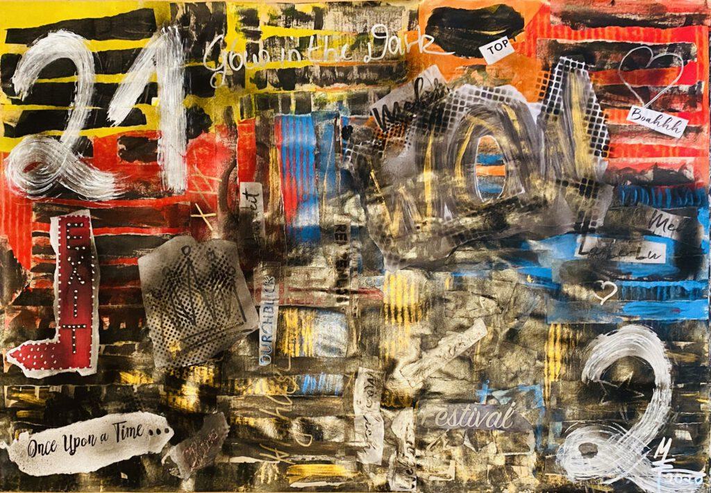 Collage 21 2 Auftragsarbeit von MW Art Marion Waschk, malerei,