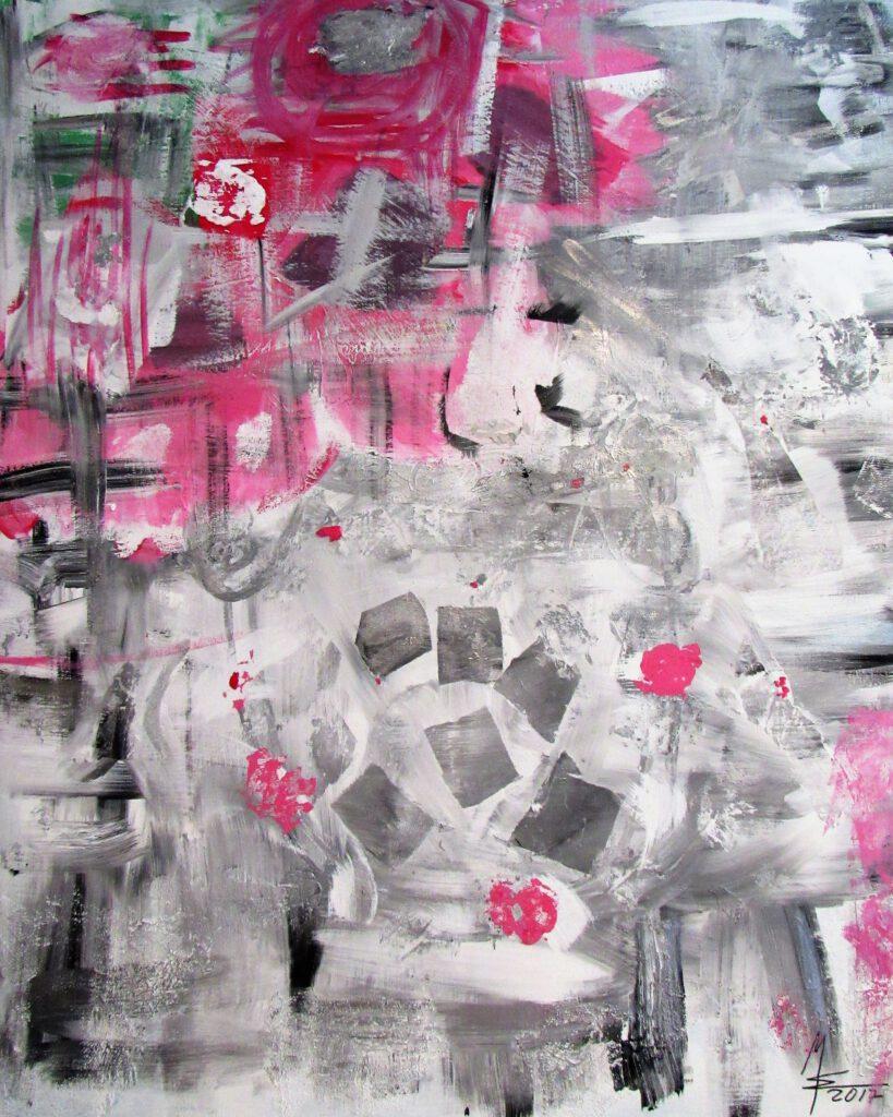 vergänglich abstraktes Gemälde von MW art Marion Waschk