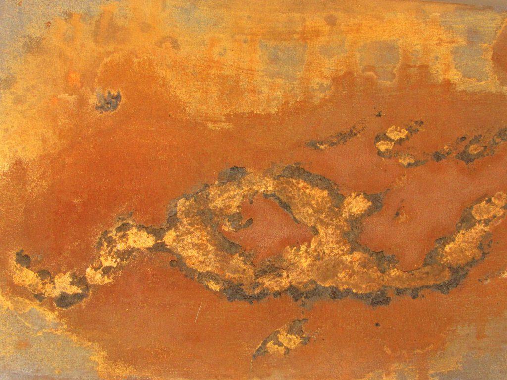 Abstraktes Gemälde in Rost von MW art MArion Waschk