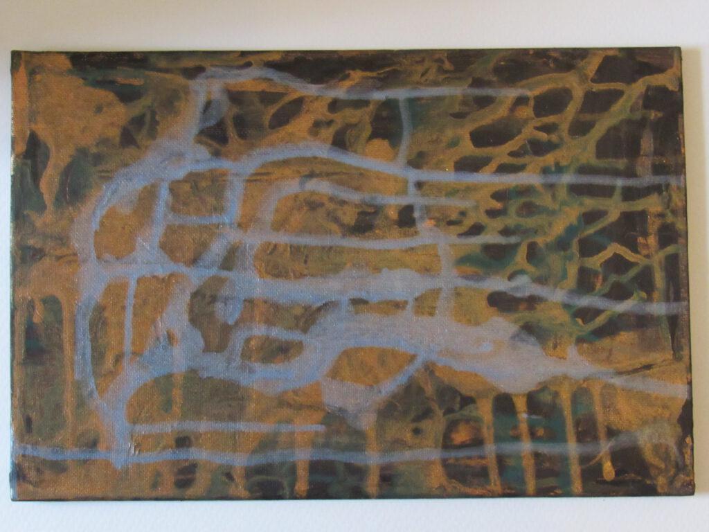 Abstraktes Gemälde von MW Art Marion Waschk