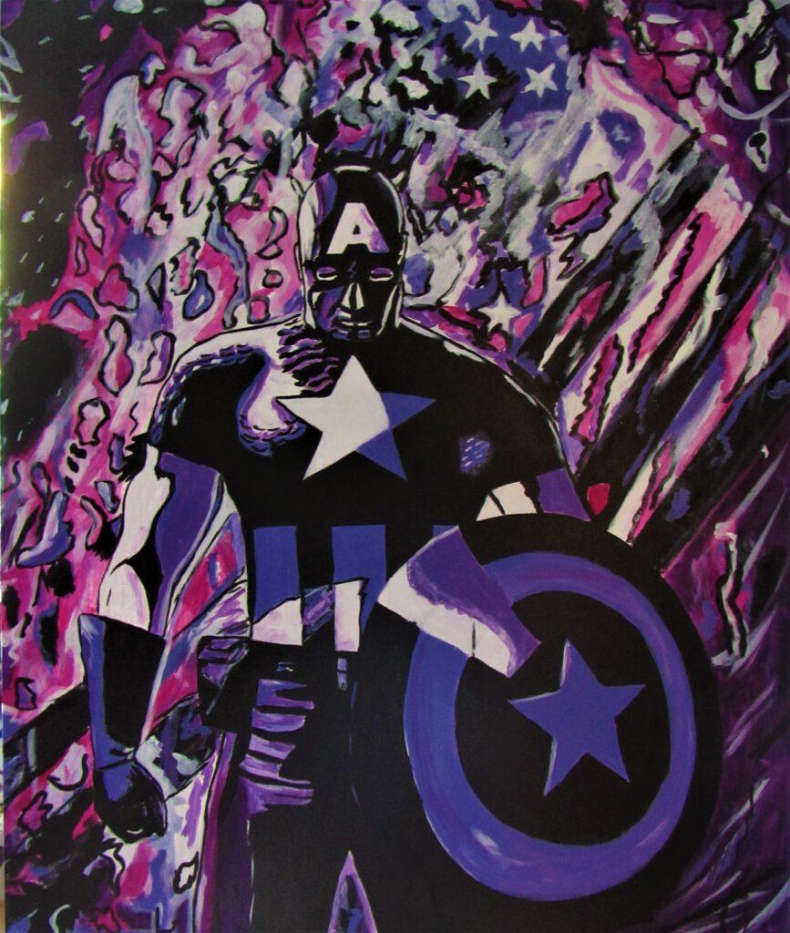 Comic Art  Captain America von der Künstlerin MW Art Marion Waschk