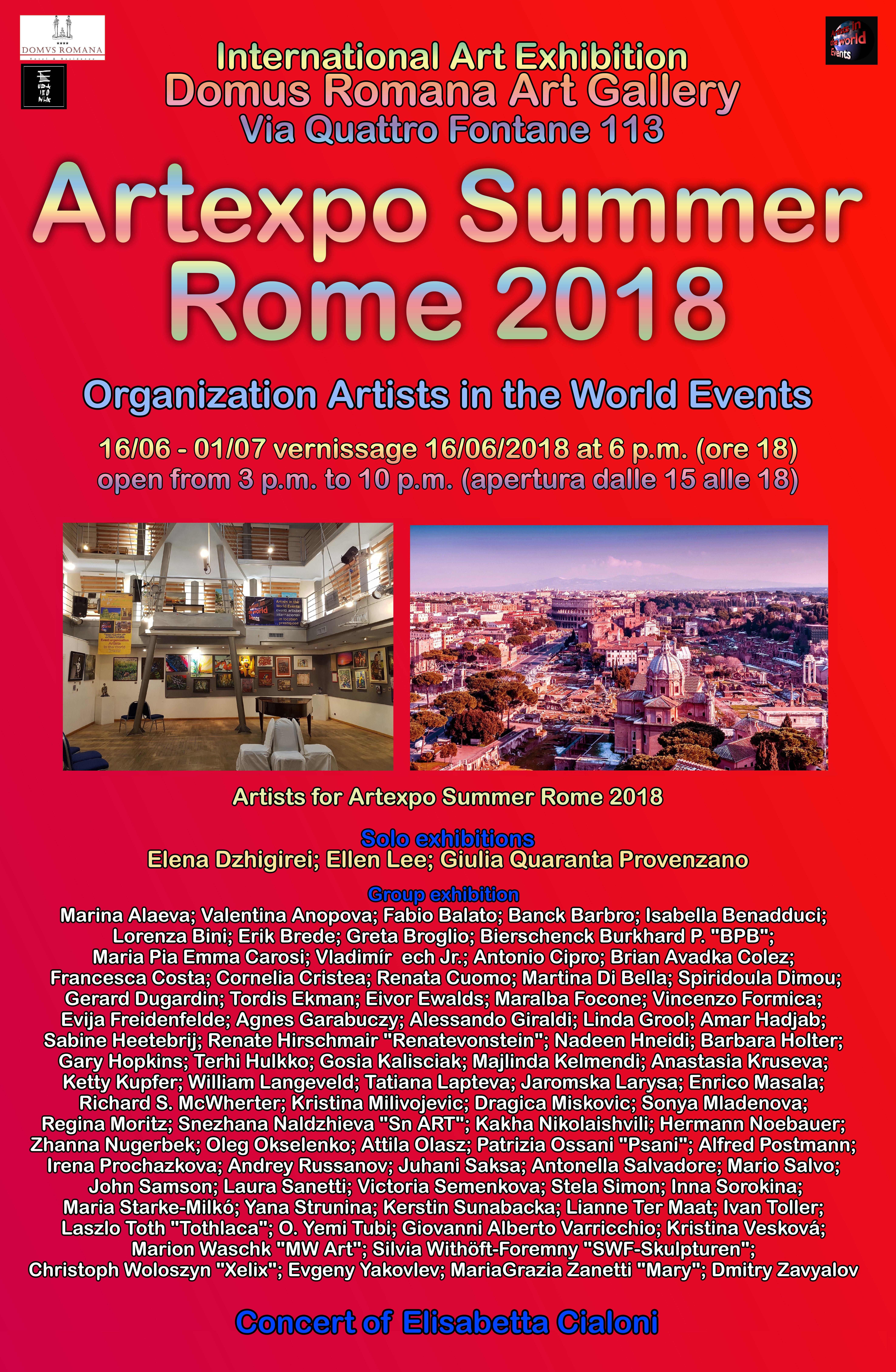 MW Art Marion Waschk auf der Artexpo Summer Rome 2018