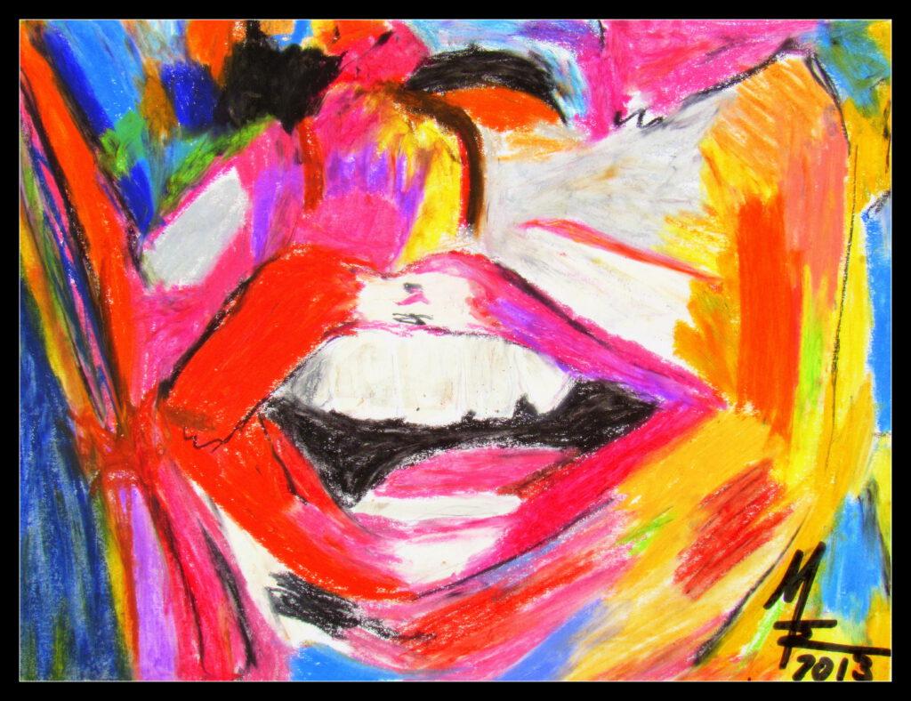 kunterbunter lächelnder Mund von MW Art Marion Waschk
