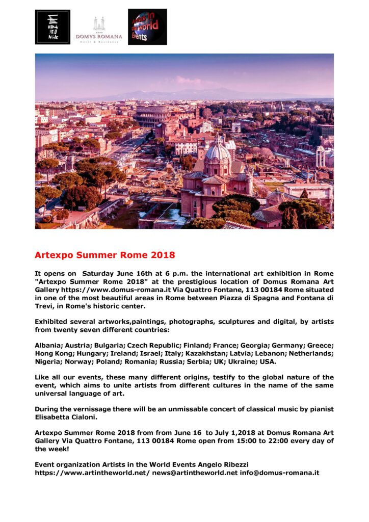 Press release Artexpo Summer 2018. 3