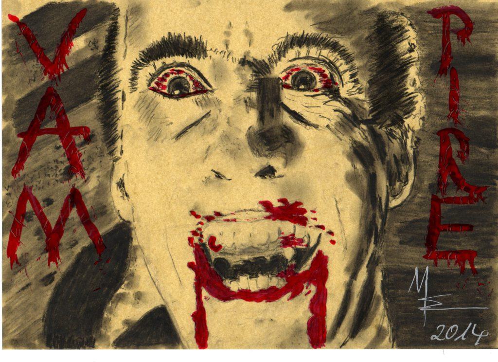 VAMPIRE zeichnung von MW art MArion Waschk