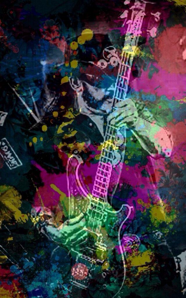 Digitale Collage des Musikers Lemmy Kilmister von MW Art Marion Waschk