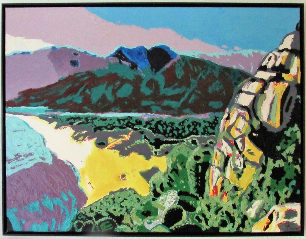 beloved Sardegna, Costa Rei Ölgemälde von MW art Marion Waschk, gerahmt